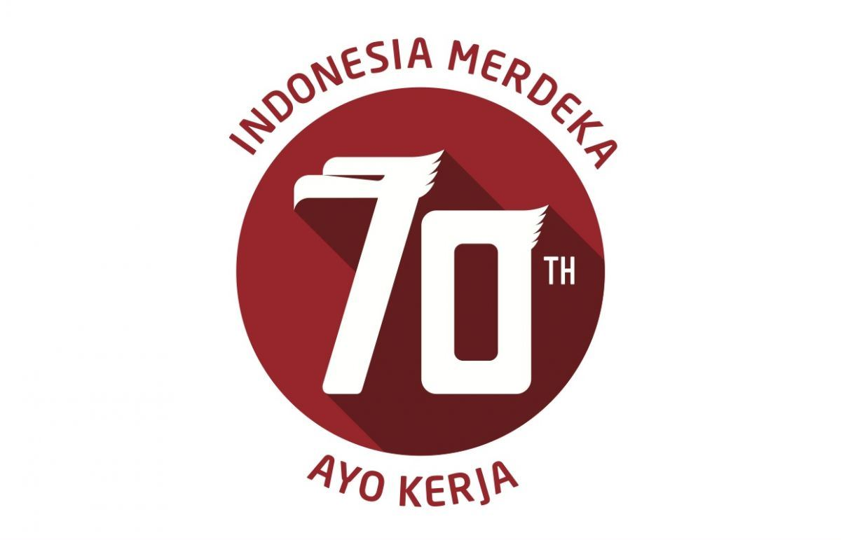 Logo HUT RI 70 warna